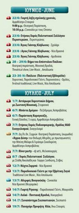 Let's Volvi: Πρόγραμμα εκδηλώσεων καλοκαίρι 2018 @ Δήμος Βόλβης